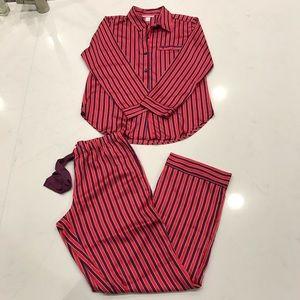 Victoria's Secret Satin Striped Pajama set  size S